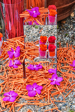 purple and orange wedding A Colorful Destination Wedding on the Italian Riviera