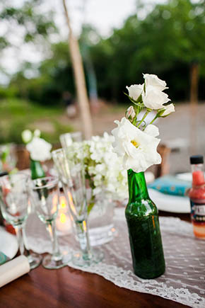 rustic wedding tables A Rustic Beach Wedding in Tamarindo, Costa Rica
