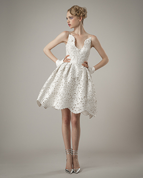 short wedding dresses Elizabeth Fillmore Spring 2014 Wedding Dresses