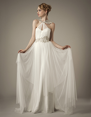 wedding dress destination wedding Elizabeth Fillmore Spring 2014 Wedding Dresses