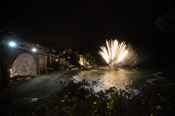 wedding fireworks italy A Colorful Destination Wedding on the Italian Riviera