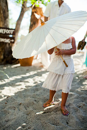 wedding parasol A Rustic Beach Wedding in Tamarindo, Costa Rica