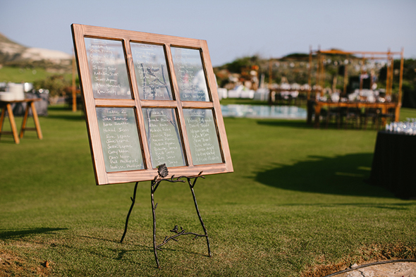 wedding seating chart A Modern Destination Wedding in Cabo San Lucas, Mexico