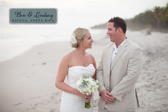 weddings in costa rica Chevron Inspired Beach Wedding in Costa Rica