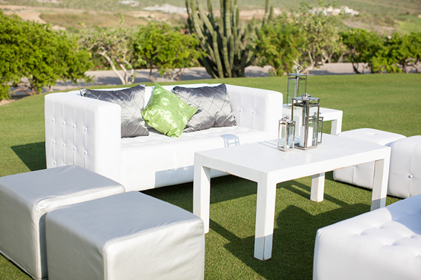 white wedding lounges A Modern Destination Wedding in Cabo San Lucas, Mexico