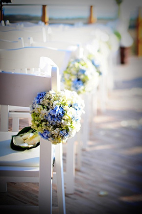 blue and green weddings