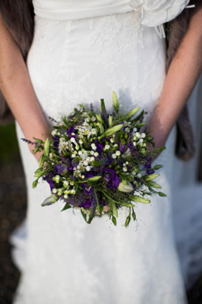 bridal bouquet rustic A Rustic Wedding in Ireland