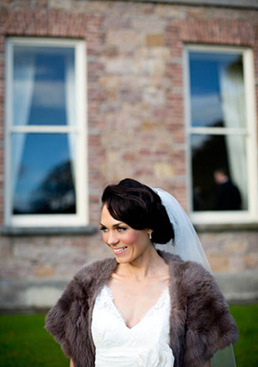 bridal wrap for dress A Rustic Wedding in Ireland