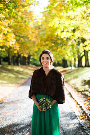 bridesmaid wrap A Rustic Wedding in Ireland