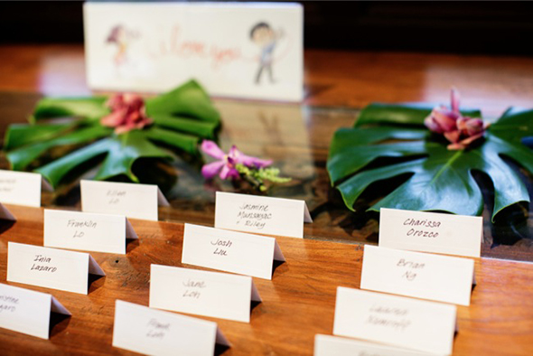 destination wedding place cards