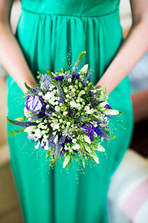 green bridesmaid dresses A Rustic Wedding in Ireland