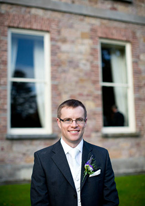 grooms tux A Rustic Wedding in Ireland