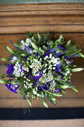irish bridal bouquet A Rustic Wedding in Ireland