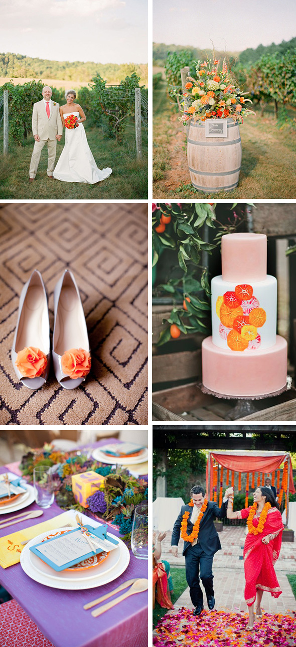 orange wedding ideas Bright Orange Wedding Ideas