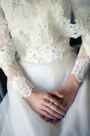 sleeve wedding dress An Intimate Elopement in Paris, France
