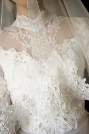sleeve wedding dresses An Intimate Elopement in Paris, France