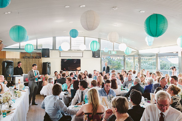 teal and white weddings