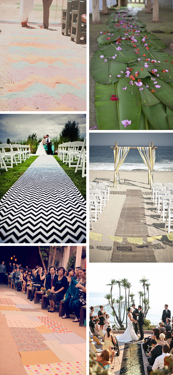 unique destination wedding aisles