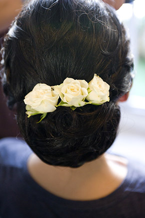 wedding hair flowers An Intimate Elopement in Paris, France