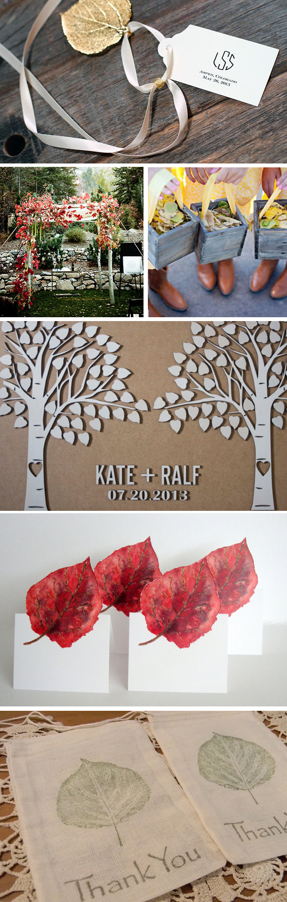aspen leaf wedding ideas