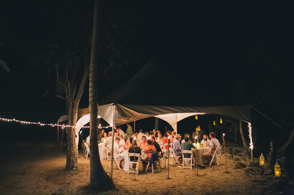 beach weddings tented