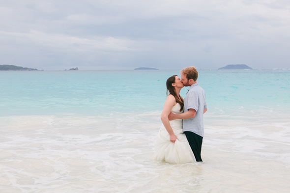 destination wedding on st john