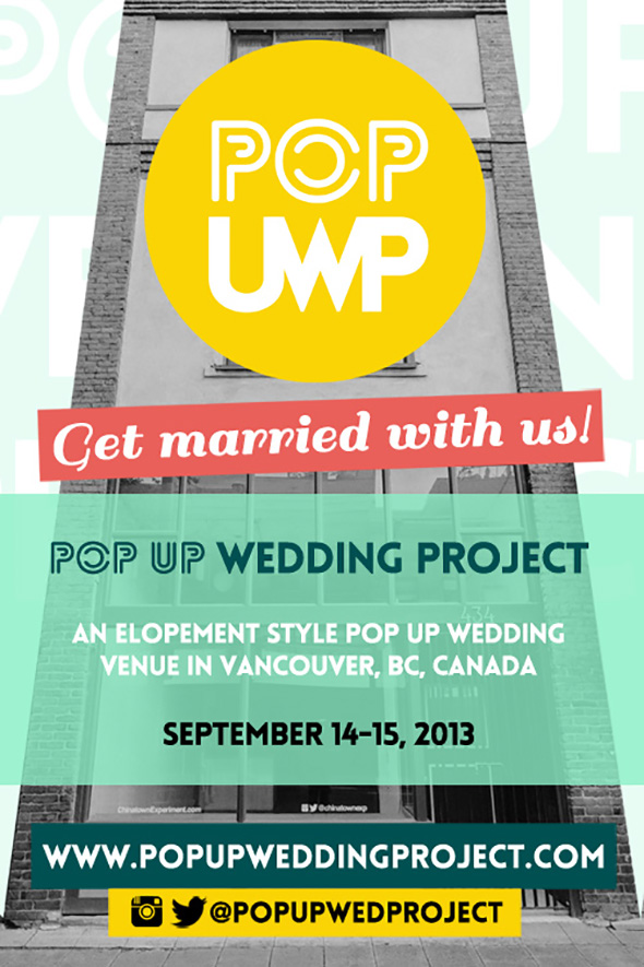 eloping in canada Pop Up Wedding Project in Vancouver, Canada