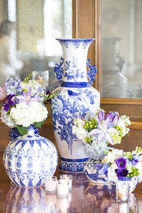 blue china wedding