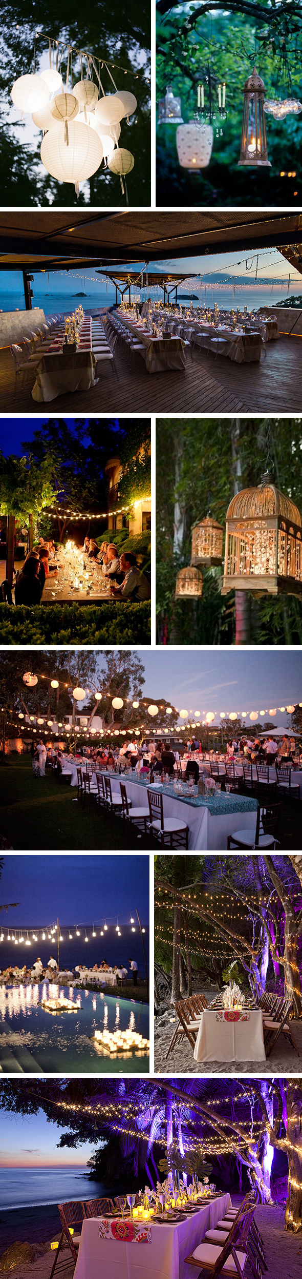 destination wedding lighting