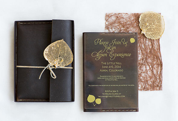 mountain wedding invitations Weddings at The Little Nell in Aspen, CO