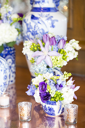 purple and blue weddings