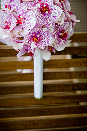 orchid bouquets Montego Bay, Jamaica Destination Wedding