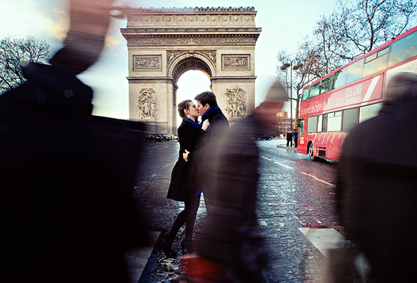 paris elopement An Engagement in Paris!