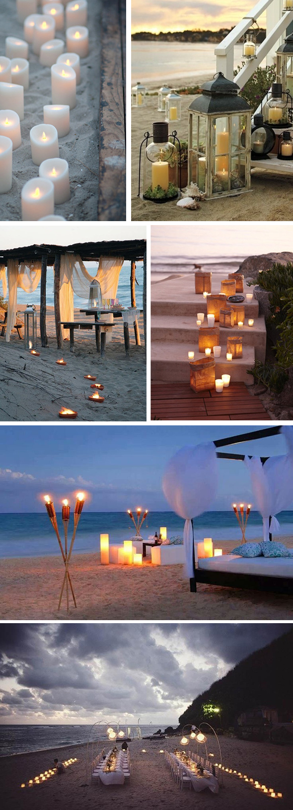 beach wedding lighting