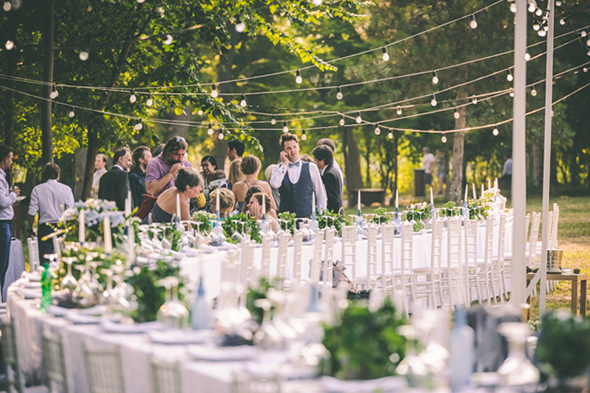 curved wedding tables
