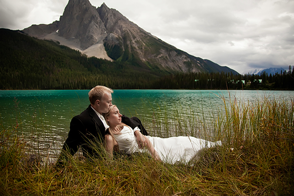 BC Canada national park wedding A Day After Destination Photo Shoot on Emerald Lake in British Columbia