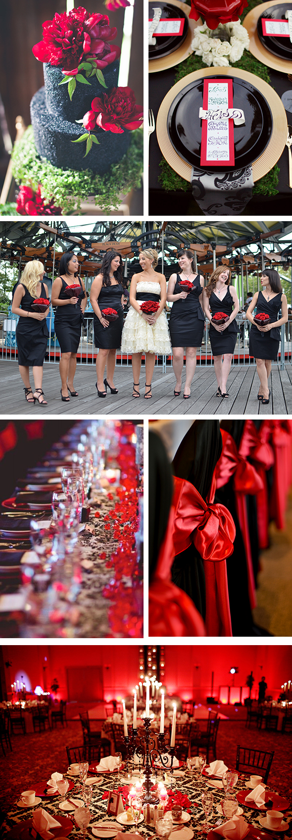 Black and red wedding Color Palette Inspiration:Red & Black