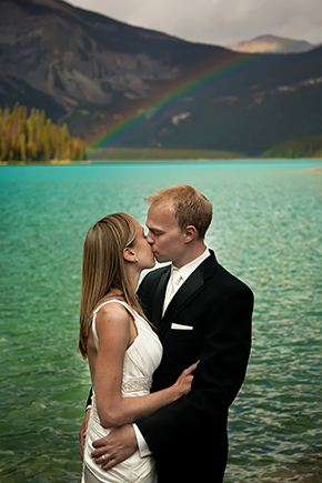 British Columbia park weddings A Day After Destination Photo Shoot on Emerald Lake in British Columbia