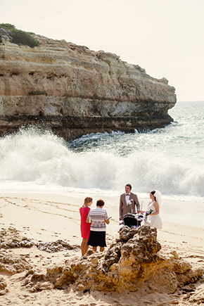 Portugal Elopments A Beach Wedding in Portugal (with a baby!)