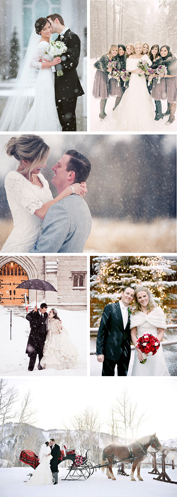 Winterwedding2 Snow Wedding Inspiration