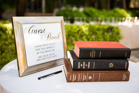 book themed guest book An Intimate Destination Wedding at Kenwood Inn and Spa in Sonoma