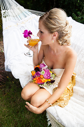 destination wedding drink