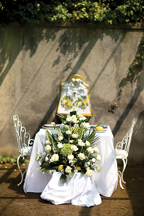 destination wedding table italy