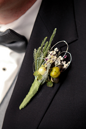 grooms flower ideas A Winter Wonderland Wedding in Park City, Utah