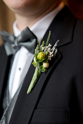 grooms flowers A Winter Wonderland Wedding in Park City, Utah