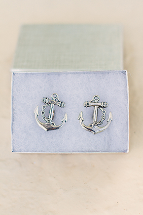 nautical cuff links A Beach Wedding in the Florida Keys