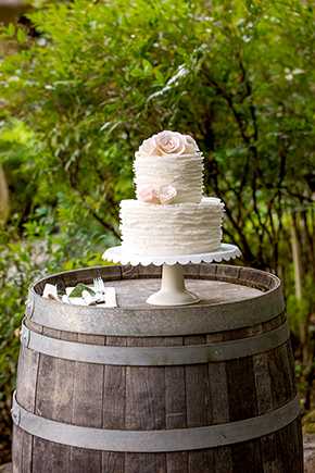 rustic wedding cake An Intimate Destination Wedding at Kenwood Inn and Spa in Sonoma