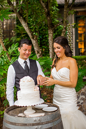rustic wedding cakes An Intimate Destination Wedding at Kenwood Inn and Spa in Sonoma