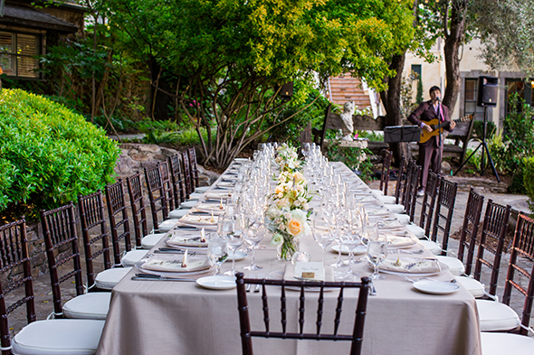 rustic wedding tables An Intimate Destination Wedding at Kenwood Inn and Spa in Sonoma