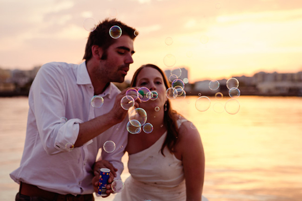 wedding bubbles A Beach Wedding in Portugal (with a baby!)